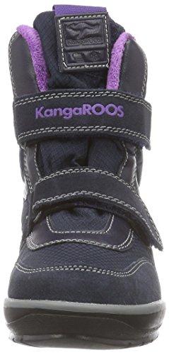 KangaROOS Kangasnowgirls 2019, Bottes de neige de hauteur moyenne, doublure chaude mixte enfant Bleu - Blau (dk navy/violet 463)