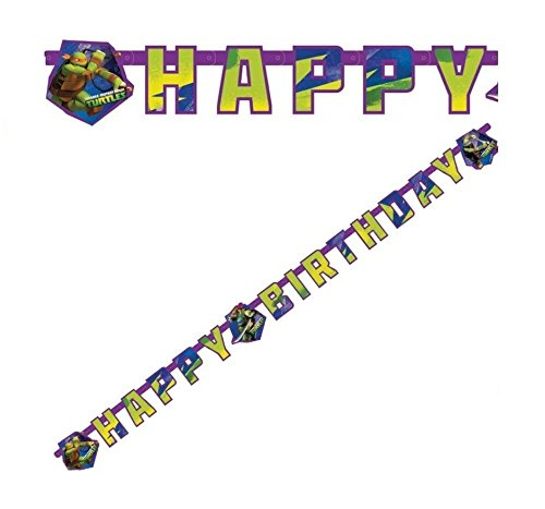 takestop Happy Birthday Festoon Nickelodeon Ninja Turtles 1,8 Meter Geburtstag Party