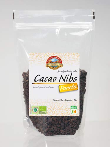 Semillas de Cacao crudas endulzada con Panela Bio 600 gr granos habas granillas de cacao criollo ecológicas 100% naturales organic Cacao Nibs