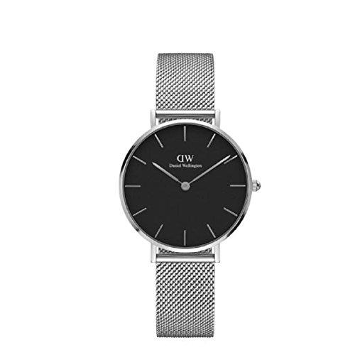 'Armbanduhr 'Sterling für Damen aus Silber Armband Pierfrancesco Zifferblatt schwarz Daniel Wellington dw00100162