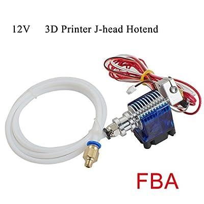 finlon Metall J-Head V6Hot End Hotend Extruder für RepRap 3D-Drucker 1,75mm Filament Direct Feed Extruder 0,4mm Düse mit 12V Fan und 1m PTFE Tube