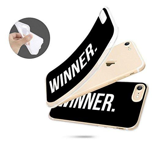 finoo | iPhone 6 und 6S Weiche flexible Silikon-Handy-Hülle | Transparente TPU Cover Schale mit Motiv | Tasche Case Etui mit Ultra Slim Rundum-schutz | Queen Winner dot black