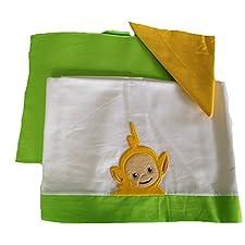 Babykleidung Kinderbett Teletubbies gelb Lala Set Bett Bettwäsche und Kissenbezug