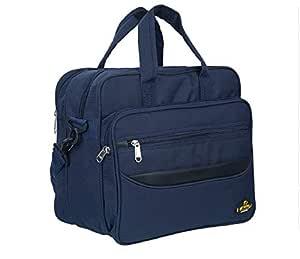 "Black Mirror Bags Analyst Messenger Bag for Men and Women (Blue) - Shoulder 15.6"" Laptop Bags with Detachable Straps Cum Handbag"