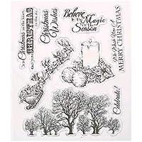 MOCHO AM Tarjeta Clara del álbum del álbum del Libro Blanco con la Decoración del Sello del Sello (Saludos de la Navidad)