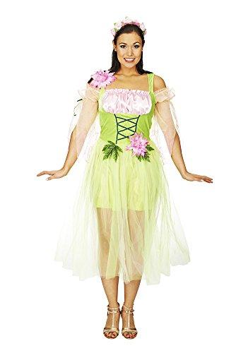 Fee Melody Kostüm Gr. 40 42 Green Fairy Kleid - Zauberhafte Märchen Fee für Karneval oder Theaterauftritt