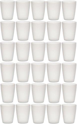 idea-station NEO Kunststoff-Becher mehrweg 250 ml 30 Stück, transparent, klar, stapelbar auch als Wasser-Gläser, Cocktail-Gläser einsetzbar, Party-Becher, Plastik-Becher sind bruchsicher - Glas-zahnputzbecher