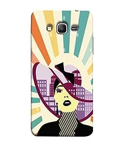 PrintVisa Stylish Lady 3D Hard Polycarbonate Designer Back Case Cover for Samsung Galaxy Grand 3 :: Samsung Galaxy Grand Max G720F