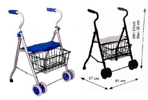 Andador de aluminio 2 ruedas y cesta