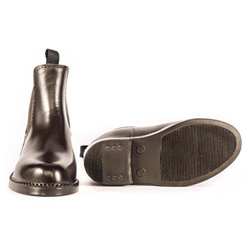 Jodhpur-Stiefel zum Reiten, wasserdicht, atmungsaktiv, vollständig gefüttert, für Erwachsene, alle Größen Braun
