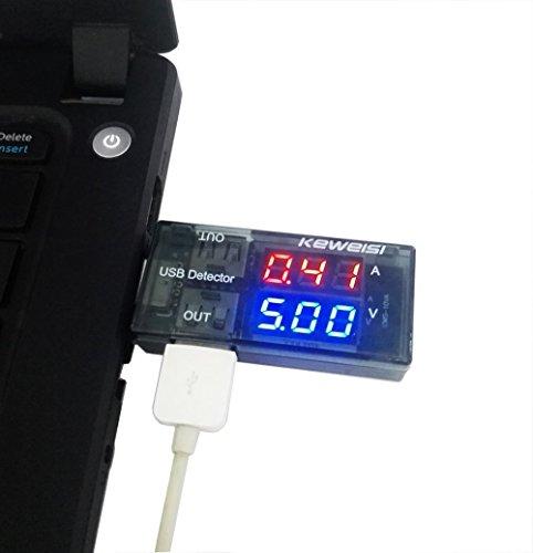 Romote 5A/9V LED Multi Tester Dual USB Ausgangsstrom Detector Anzeigen für Handy-Ladegerät, Energien-Bank Anzeige Home Akzente