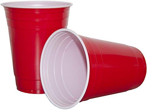 Preisvergleich Produktbild HEKU 30478-01, 50 Trinkbecher, 0,473 L / 16oz, PS, rot