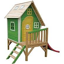 EXIT Fantasia 300 - casas de juguete (Playhouse on poles, Niño/niña, Verde, Rosa, Color blanco, Madera, Madera, EN-71, 570 x 1930 x 140 mm)