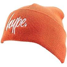 Bonnet à Revers Hype Script Orange et Blanc - Mixte