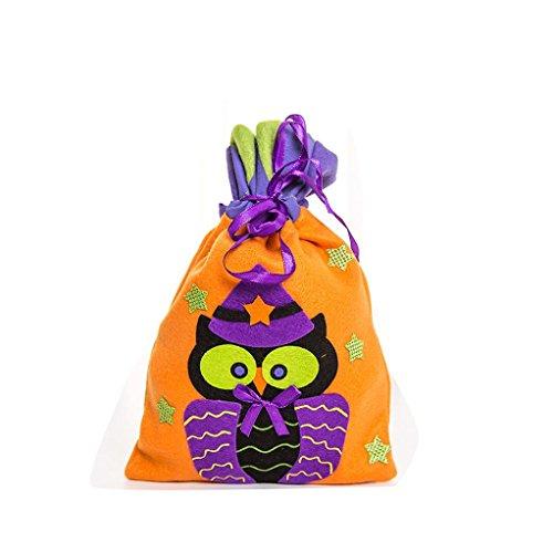 Klassenzimmer Dekorationen Halloween Für (Tunnelzug Süßigkeiten Tasche, HARRYSTORE Nette Halloween Hexe Süßigkeit Tasche Bunte Verpackung für Kinder Partei Speicher Beutel Geschenk (Mehrfarbig)