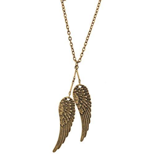 Lux accessori se avessi ali I Could Fly due volte Uccello Ciondolo Collana