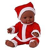 Marlene_Puppe Babypuppe, Lebensechte 12-Zoll-Weihnachtspuppen waschbar weicher Körper