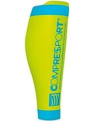Compress port R2V2Calf Fluo Sleeves Wade–Calentadores de compresión, color amarillo, tamaño T2 (Wadenumfang 34-38)