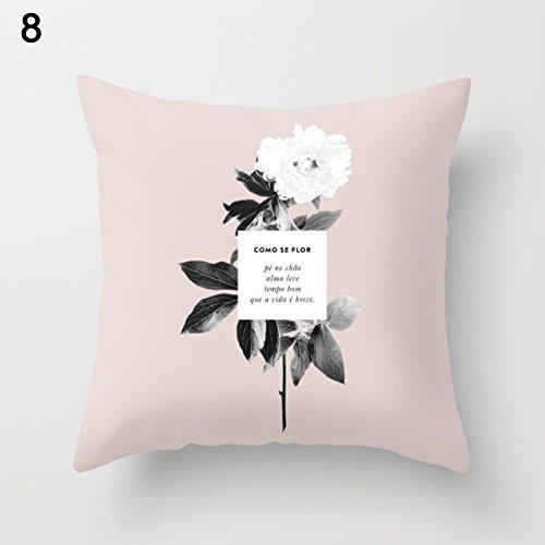 """Amesii Kissenüberzug mit geometrischem Muster, für Sofakissen / Dekokissen - """"25 Nordic Combination"""" 8 Vintage Flower (8 Stück King-schlafzimmer)"""