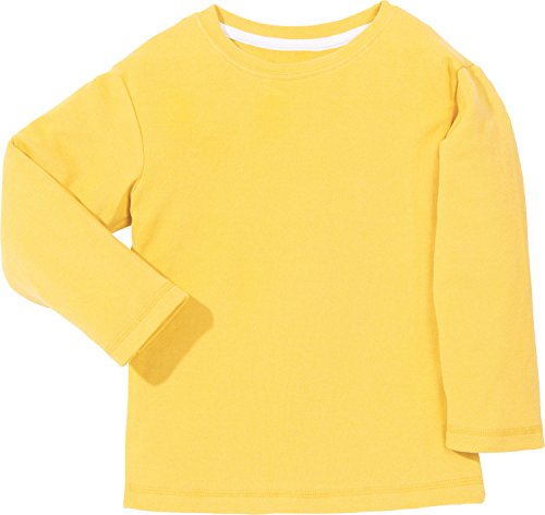 Kinderbutt Langarmshirt Interlock-Jersey gelb Größe 134 / 140