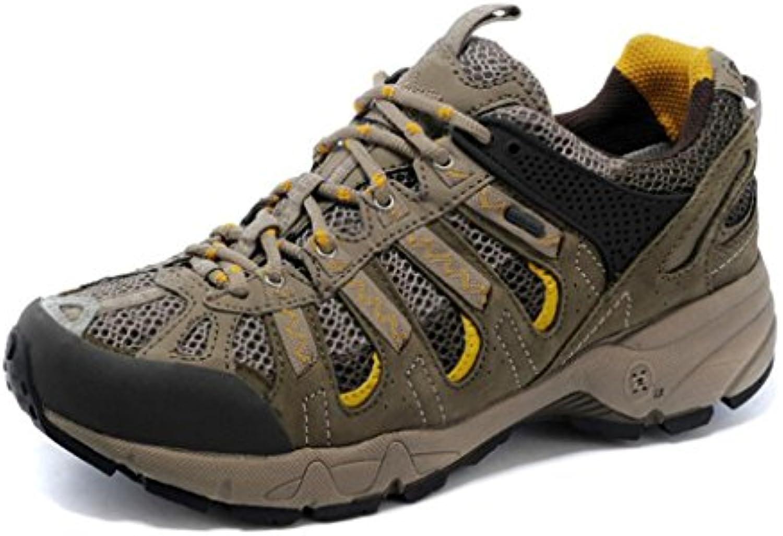 YaXuan Zapatos de Senderismo para Hombre, Zapatos Impermeables - Zapatos para Caminar, Zapatos Superiores de Malla  -