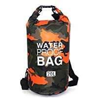 Waterproof Dry Bag 20L, Roll Top Sack Keeps Gear Dry for Kayaking, Rafting, Boating, Swimming, Camping, Hiking, Beach, Fishing