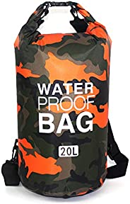Waterproof Dry Bag 20L, Roll Top Sack Keeps Gear Dry for Kayaking, Rafting, Boating, Swimming, Camping, Hiking