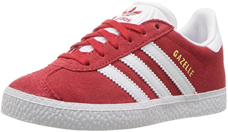 les baskets de adidas gazelle c de baskets garçons, scarlet / blanc / nous l'or métallique, 11 moyenne petite 4a47b1