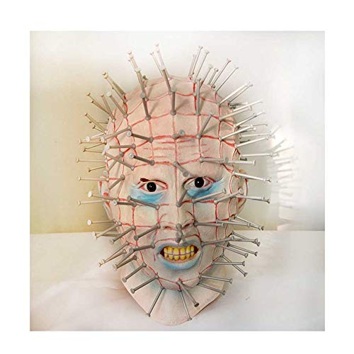KLJJQAQ Halloween Nagel Maske No Hair Vampire Monster Latex Kopfbedeckung Für Zombie Kostüm Party Haunted House Bar KTV - Sexy Haunted Zombie Kostüm