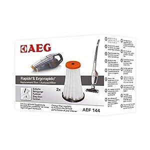 AEG AEF144 Austauschfilter für Rapido & Ergorapido CX7-1 (Doppelpack, 2 Innenfilter, optimale Saugleistung und Filtration, regelmäßiger Filtertausch, einfache Reinigung und Austausch, schwarz/weiß)