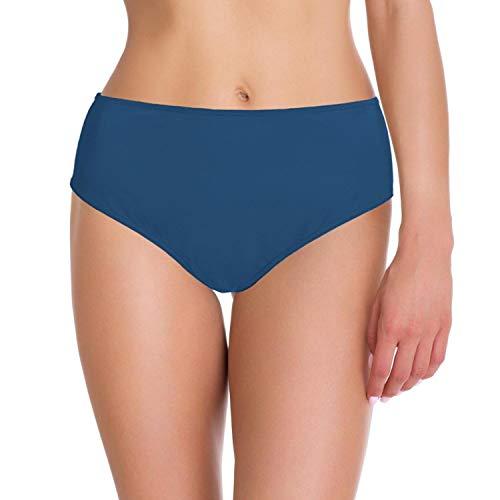 Aquarti Damen Bikini-Hose Slip Badehose, Farbe: Jeans, Größe: 40