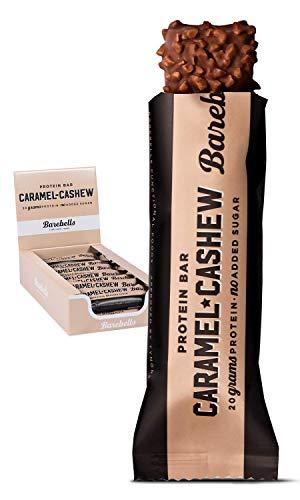 Barebells Proteinriegel 12x55g Caramel Cashew   Proteinreich Kohlenhydratarm   Kaum Zucker   20 Gramm Protein pro 55-Gramm-Riegel   Köstliche Proteinriegel für Muskelaufbau und -regeneration - Bar Caramel