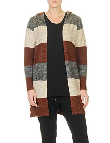 Only Women's Trust Hood Women's Wool Cardigan With Hood In Size M Brown