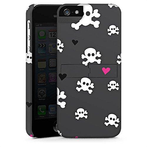 Apple iPhone X Silikon Hülle Case Schutzhülle Skull Heart Muster Premium Case StandUp