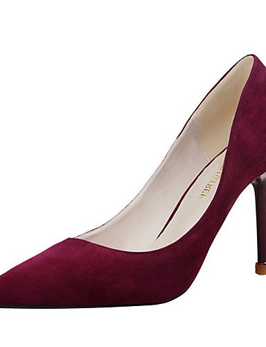 WSS 2016 Chaussures Femme-Extérieure / Bureau & Travail / Soirée & Evénement-Noir / Rose / Violet / Rouge / Gris / Amande-Talon Aiguille-Talons / gray-us7.5 / eu38 / uk5.5 / cn38