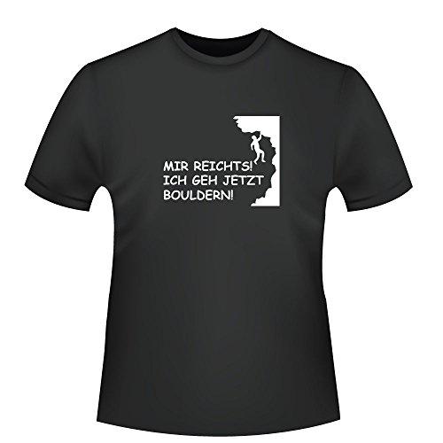 Mir reichts! ich geh jetzt bouldern!, Herren T-Shirt - Fairtrade - ID103847 Schwarz