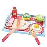 KIDS TOYLAND Rollenspielen Frühstück Sets für Kinder - Holz Küche Sets & Spiellebensmittel (13 Stück)