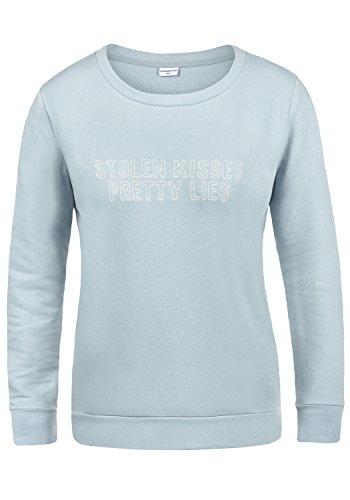ONLY Taylor Damen Sweatshirt Pullover Sweater Mit Rundhalsausschnitt Und Fleece-Innenseite, Größe:S, Farbe:Celestial Blue