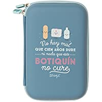 Mr. Wonderful Mal Que Cien Años Dure Ni Nada Que Este Botiquín No Cure, Tela, 27.5x13x4.5 cm
