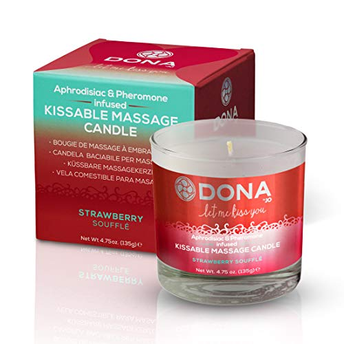 Massage-soufflé (Dona Kissable Massage Candle Strawberry Soufflé, 135 gr)
