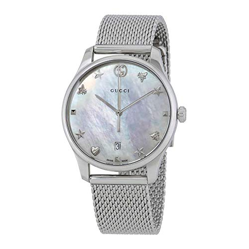 Gucci Unisex-Adult Analogue Classic Quartz Watch with Stainless Steel Strap YA1264040