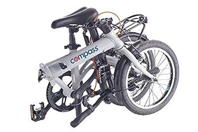Compass Faltrad 16 Zoll Aluminium grau, Klapprad, Klappfahrrad, extrem leicht und robust