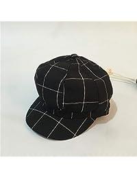 ERQINGBM Boina Otoño Invierno Sombreros para Mujeres Hombres Vendedor De  Periódicos Casquillo Boina Hembra Hombre Gorra 04e55b800b4