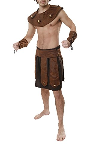 s Erwachsenen griechischen Soldaten Kost�m Herren Fancy Gladiator Warrior Party Kleid Outfit Einheitsgr��e (Gladiator Halloween-outfit)