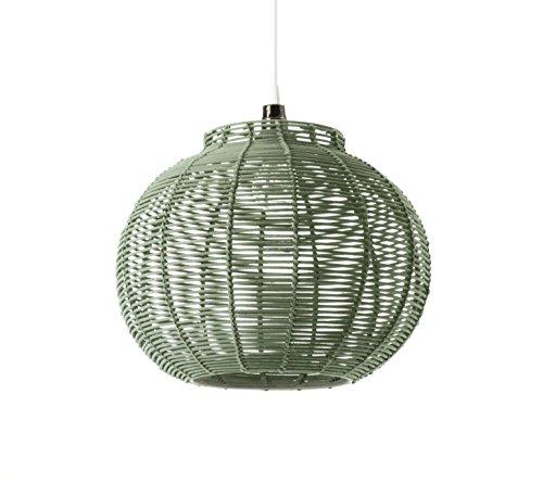 Lussiol–Lámpara de Suspensión Korba, de ratán–Diámetro de 30x altura de 23cm–E27,60W
