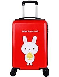 e7d832a3a Gucili Maleta para Niños, Rueda Universal De 20 Pulgadas, Conejo De Dibujos  Animados, Equipaje para Niños, Embarque De Vacaciones…
