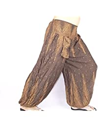 Sarouel Femme Marron Pantalon Ethnique Aladin Harem Pant Aladdin Hippie  Brown yoga imprimé baggy ea53e6b8be7