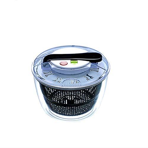 NBSXR Große 5-Liter-Salatschleuder, Gemüsewaschsieb und -trockner, Rutschfester Standfuß Einfacher Bremsknopf Einfach und sicher zu bedienen, für kompakte Aufbewahrung