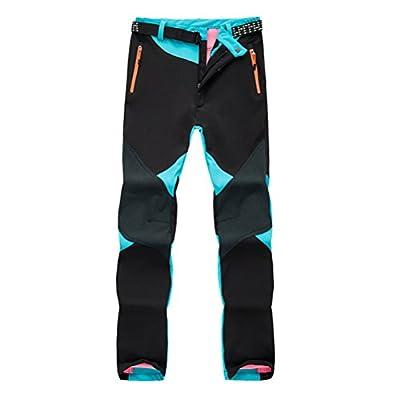 Zhhlaixing Prämie Women Fleece Snow Ski Cycling Hiking Pants Water-resistant Windproof Outdoor Sports Softshell Winter Warm Trousers von zhuhaishixiangzhoulaixingdianzishanghang - Outdoor Shop