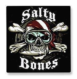 Taucher-Aufkleber Salty Bones
